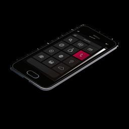 Maqueta móvil 3d del teléfono inteligente