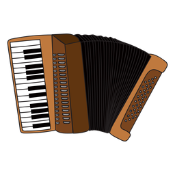 Accordion musical instrument doodle