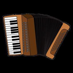 Doodle de instrumentos musicales de acordeón.