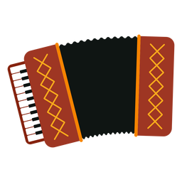 Accordion musical instrument icon