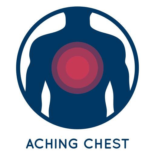 Aching chest icon Transparent PNG