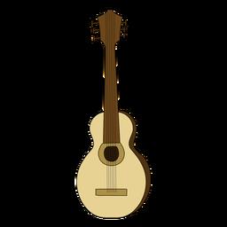 Doodle de instrumentos musicales de guitarra acústica.