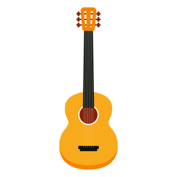 Acoustic guitar musical instrument icon