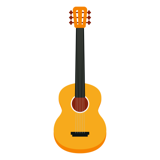 Acoustic guitar musical instrument icon Transparent PNG
