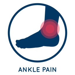 Ankle pain icon