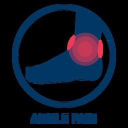 Icono de dolor de tobillo
