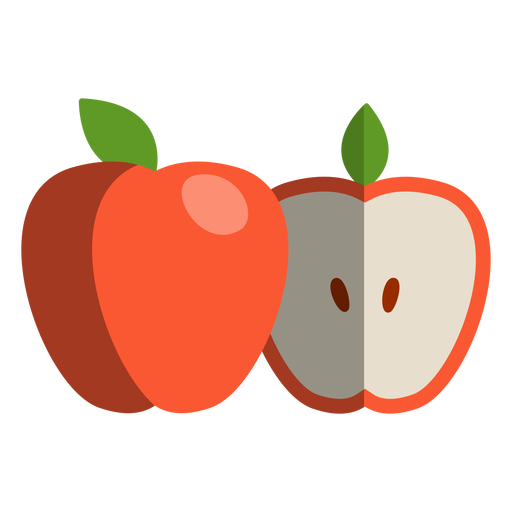 Apple cut to half icon Transparent PNG