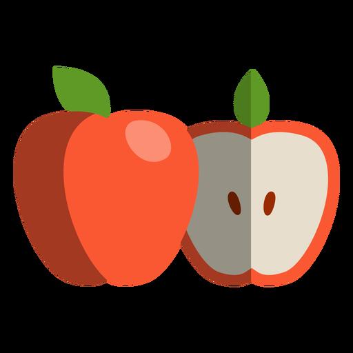 Icono de manzana cortada a la mitad Transparent PNG