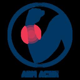 Icono de dolor de brazo