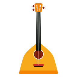 Balalaika russian musical instrument icon