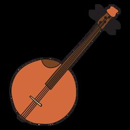 Doodle de instrumento musical de banjo