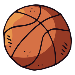 Basketball ball cartoon
