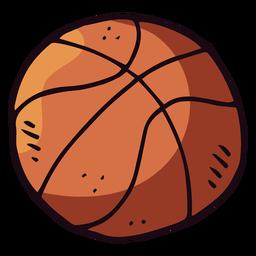 Desenhos animados de bola de basquete