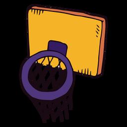 Cesta de baloncesto de dibujos animados