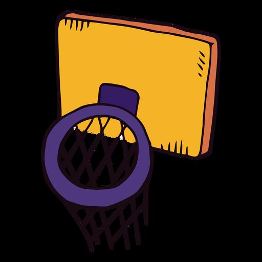 Canasta de baloncesto de dibujos animados