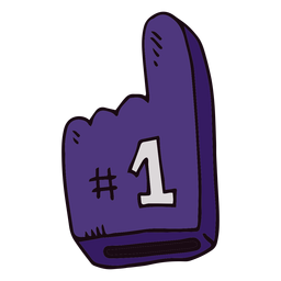 Basketball foam finger cartoon
