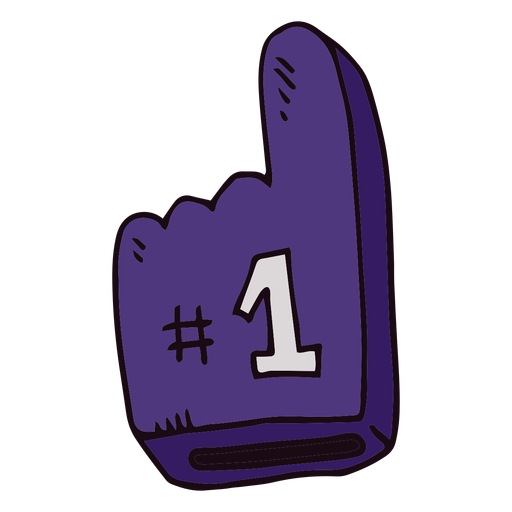 Basketball foam finger cartoon Transparent PNG