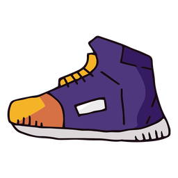 Basketball sneaker cartoon