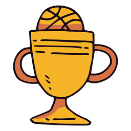 Basketball trophy cup cartoon