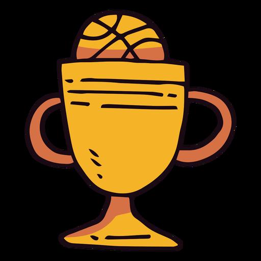 Basketball trophy cup cartoon Transparent PNG