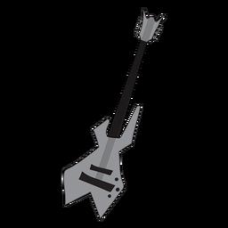 Doodle de instrumento musical de guitarra baixo