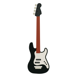 Bass guitar musical instrument icon