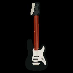 Icono de instrumento musical bajo guitarra
