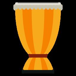 Bata drum ícone de instrumento musical