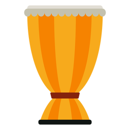 Icono de instrumento musical de tambor bata