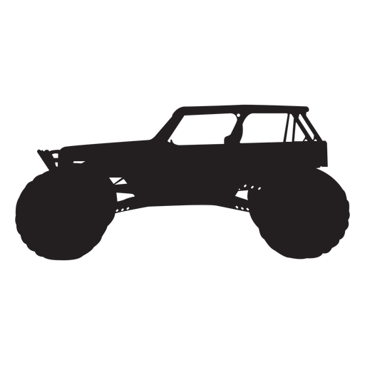 Silueta de coche bigfoot Transparent PNG
