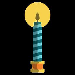 Vela de pilar de bastão de doces azul