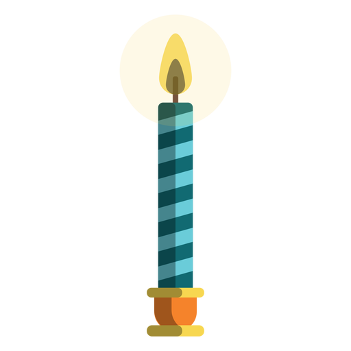 Vela de pilar de bastão de doces azul Transparent PNG