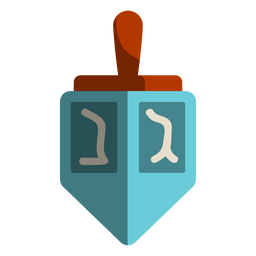 Blue dreidel icon
