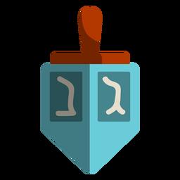 Icono de dreidel azul