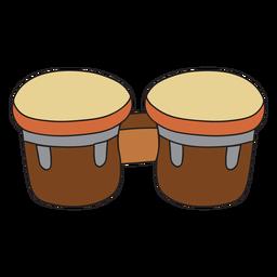Doodle de instrumento musical de bongos