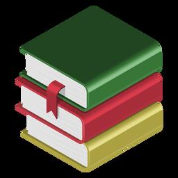 Ícone 3d pilha de livros