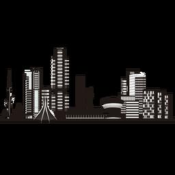 Brasilia skyline silhouette