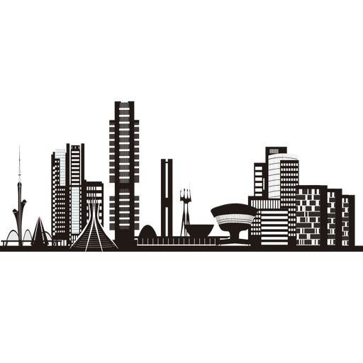 Brasilia skyline silhouette Transparent PNG