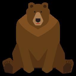 Urso pardo sentado ilustração