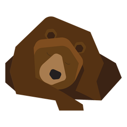 Brown bear sleeping illustration