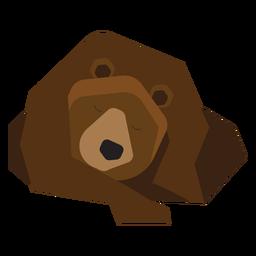 Urso pardo dormindo ilustração