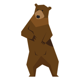 Brown bear standing illustration