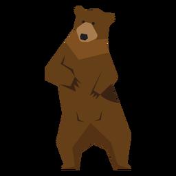Urso pardo em pé ilustração