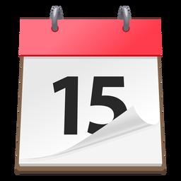 Icono 3d de la fecha del calendario