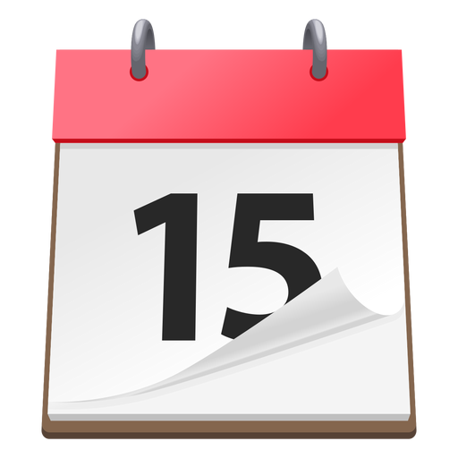 Ícone de data de calendário 3d Transparent PNG