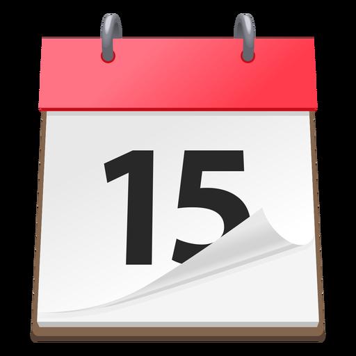 Icono de fecha calendario 3d Transparent PNG