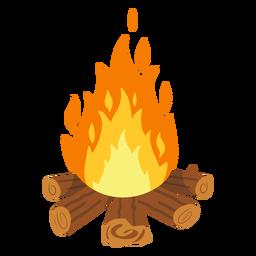 Lagerfeuer Feuergefecht Illustration