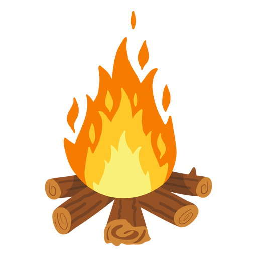Campfire firefight illustration Transparent PNG