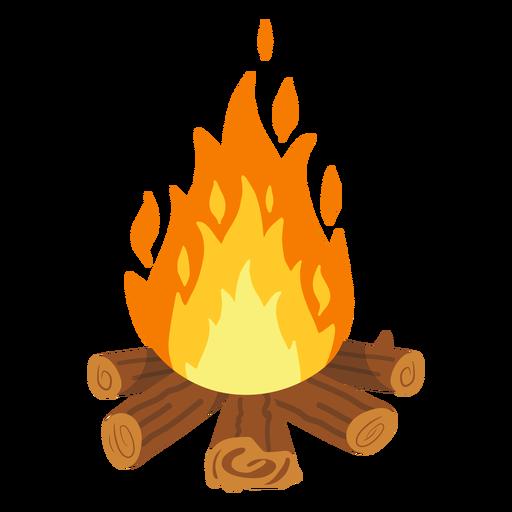 Campfire firefight illustration