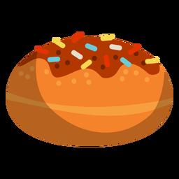 Donut glaseado de chocolate